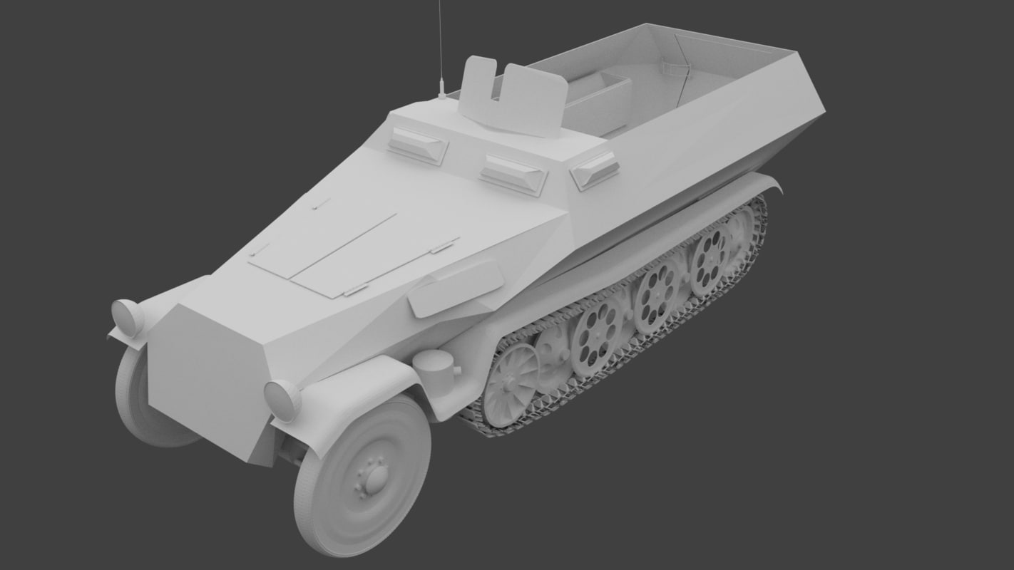 3D model german hanomag sd kfz