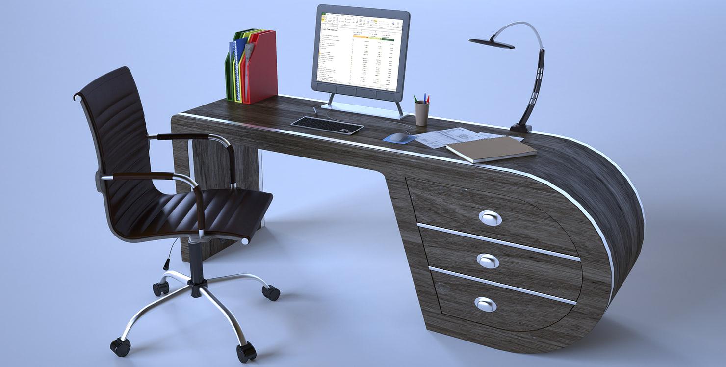 design modern desk 3D model
