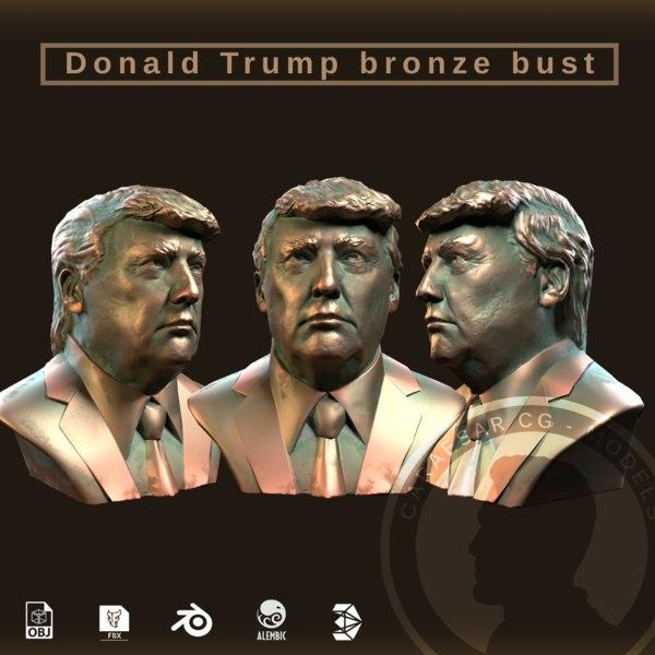 president donald trump bronze 3D model