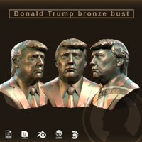 president donald trump bronze 3D model