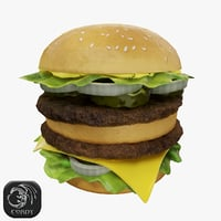 burger hamburger 3D model