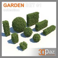 garden set 01 3D