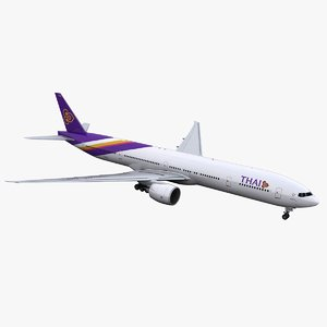 777-300 thai airways 3D model