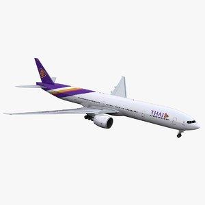777-300 thai airways 3D model