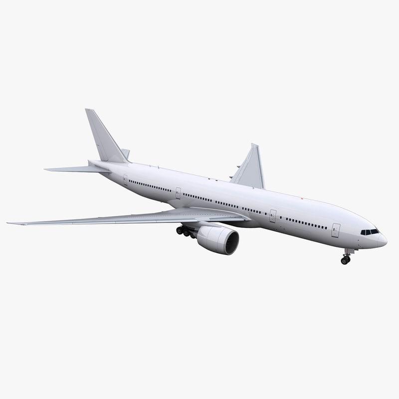 3D model 777-200 aircraft generic