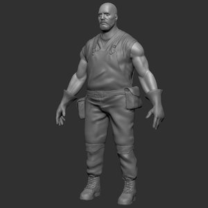 3D medieval blacksmith sculpt