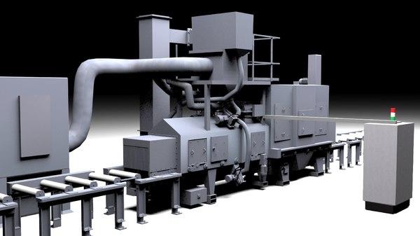 3D shot blasting machine model