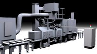 3D shot blasting machine model