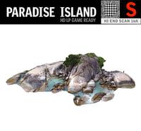 paradise island 3D model