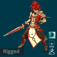 3D male anime character project model