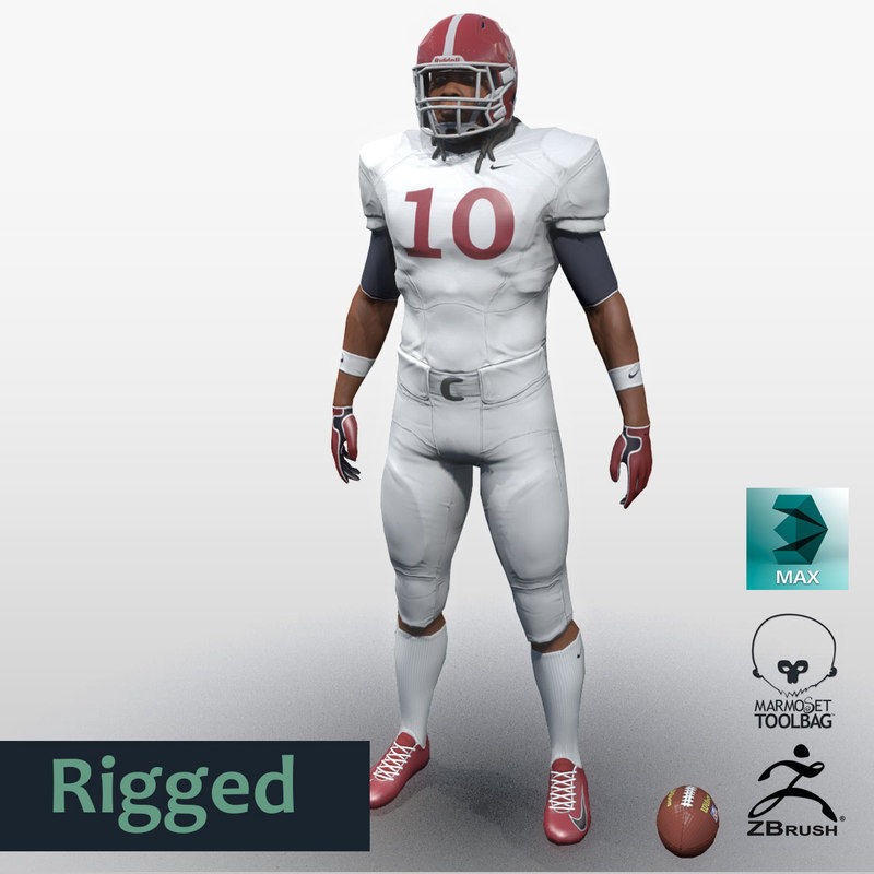 fbx male character football player