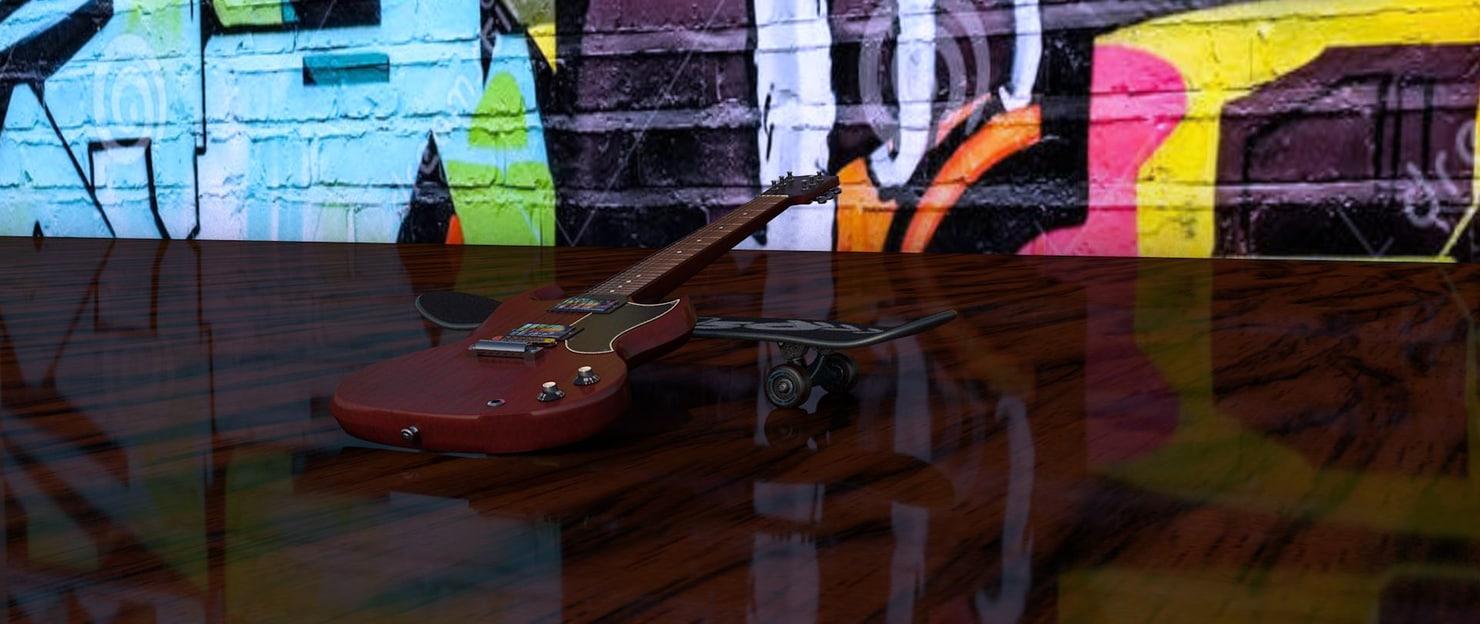 3D electro guitar