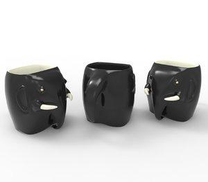 3D model cup elephant