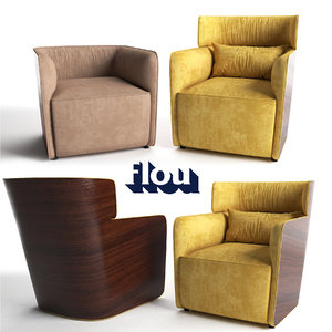 flou armchair softwing 3D