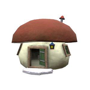 mushroom house games 3D model