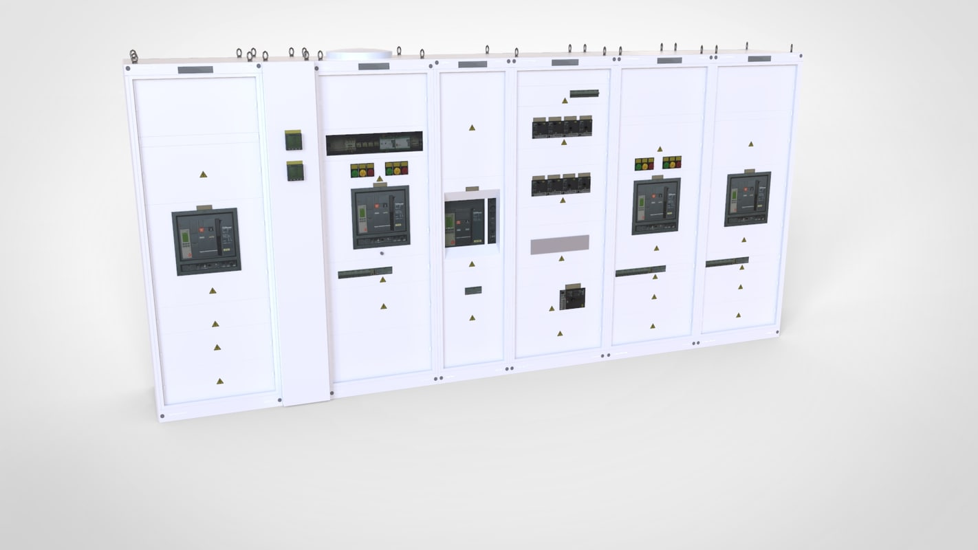 3D main industrial electrical switchboard