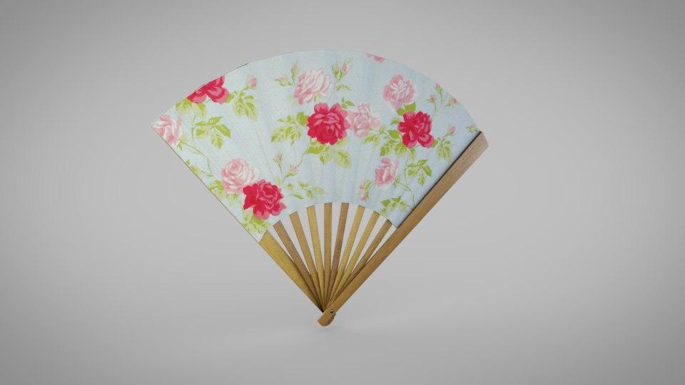 3D folding fan
