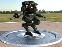robot character soldier model