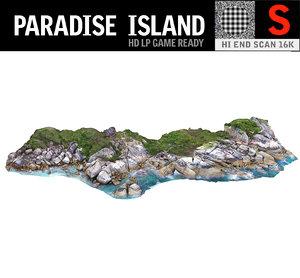 3D paradise island