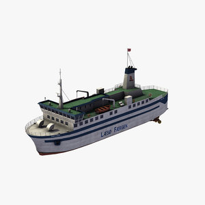 3D baltic ferry model