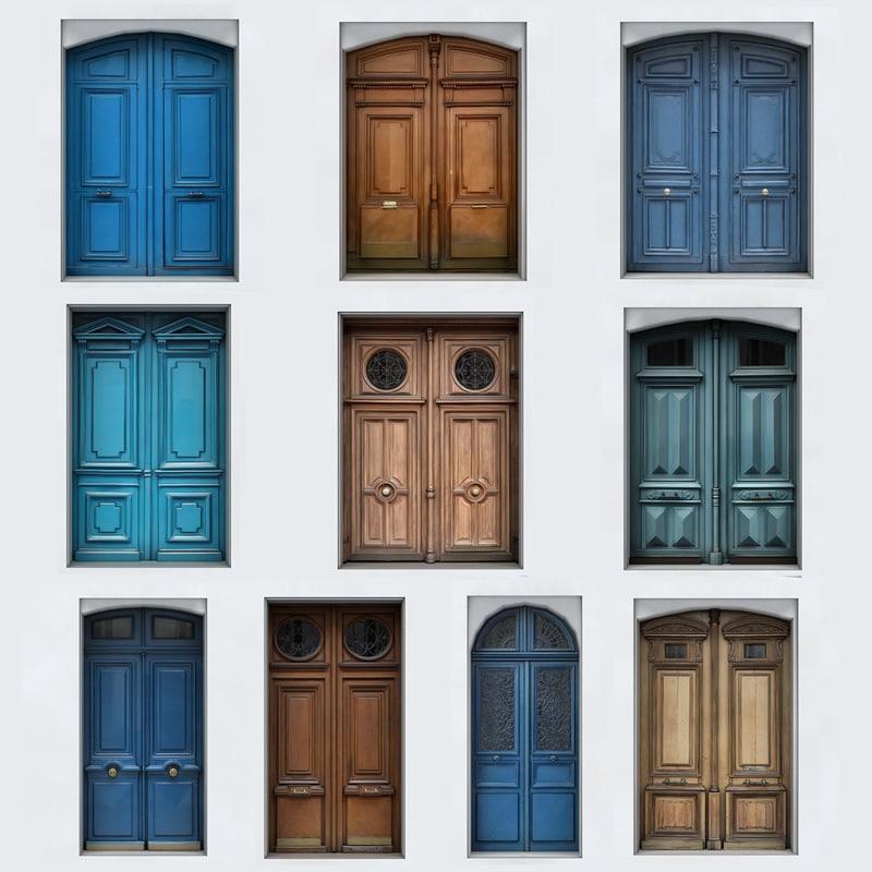 3D model exterior doors