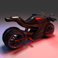 3D futuristic electric motorcycle model