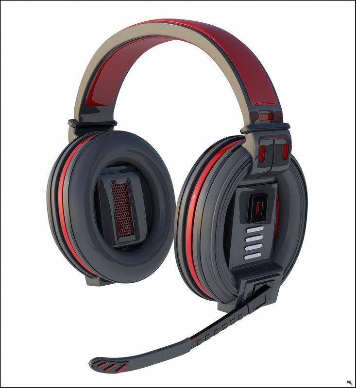 headphones gamer head 3D