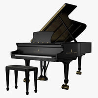 steinway concert piano 3d fbx