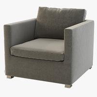 Photorealistic Detail Cane-Line Shape Sofa Club Chair Module