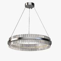 Photorealistic Carlyle Crystal LED Pendant Light #9j536