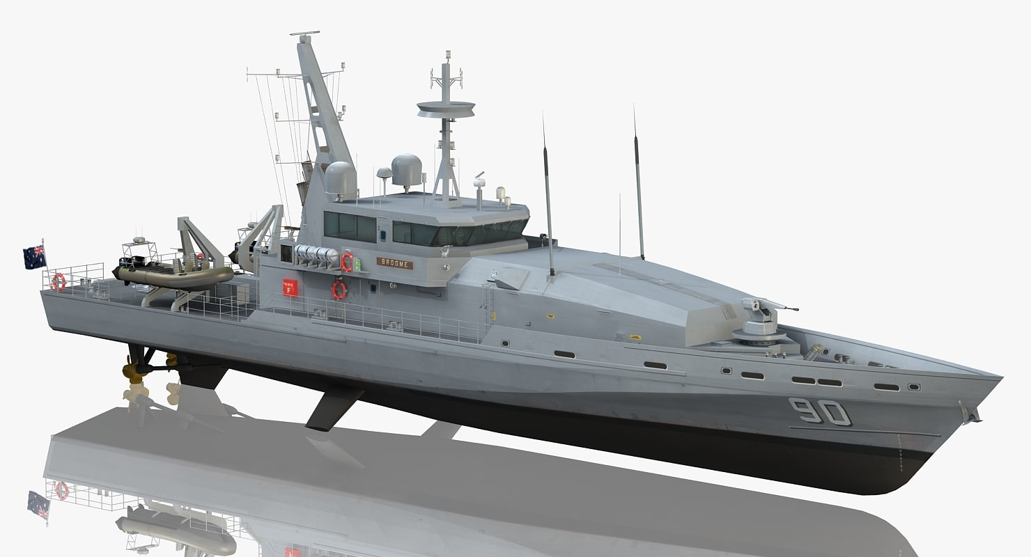 3D model hmas broome acpb 90