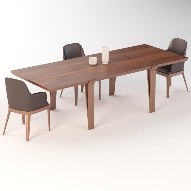 realistic photoreal dining 3D model