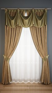 3D classic curtain rail model