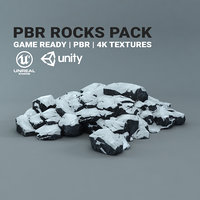 Snow Rocks - PBR Pack - Game Ready