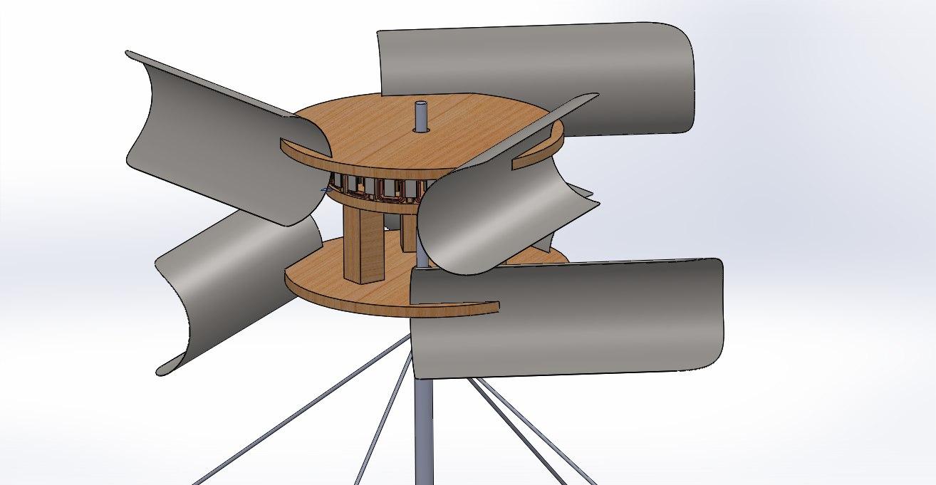 turbine wind 3D