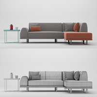 3D sectional sofa portland model