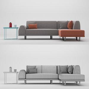 3D sectional sofa portland model