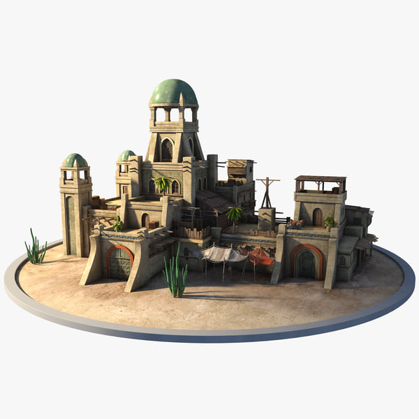 3D oriental houses