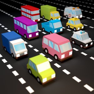 3D vehicles unity unreal pack