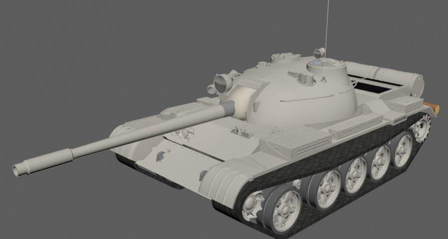 3D tank t-55 model