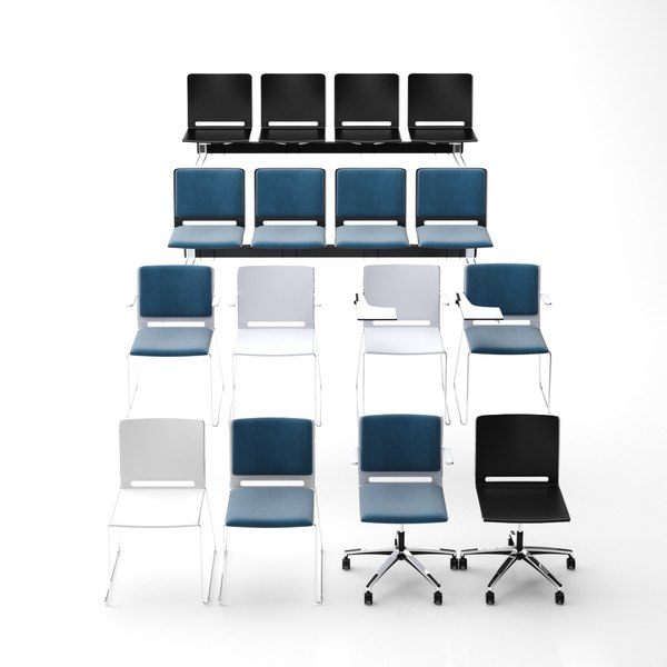 3D lafilo armchair bench chair model