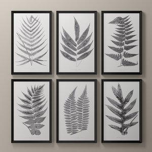 3D posters botanical model
