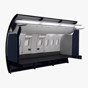 3D ryanair economy wing exit model