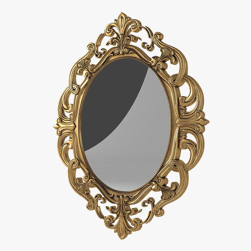 baroque oval mirror model