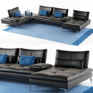 roche bobois sofa scenario 3D