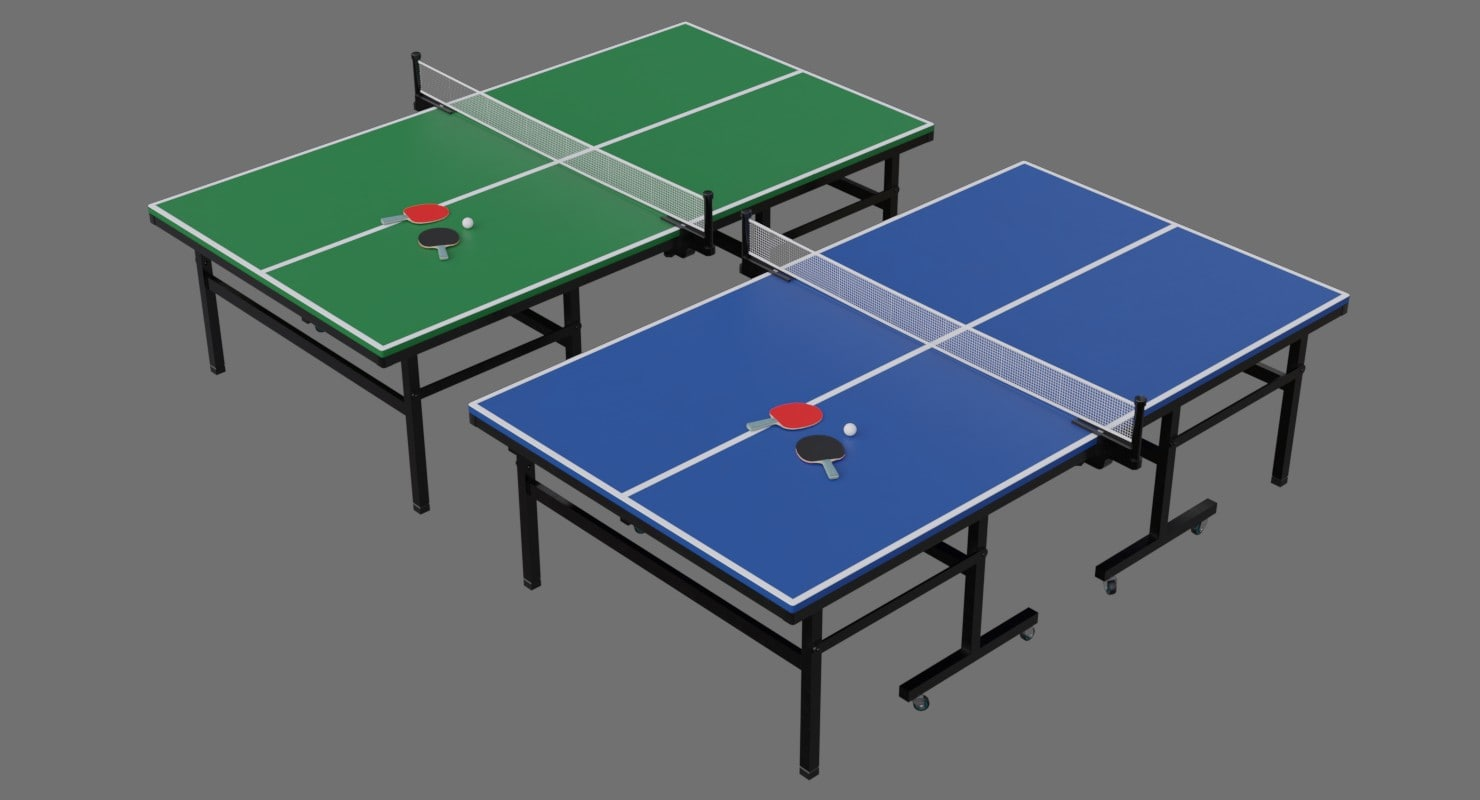 ping pong table 2a 3D model