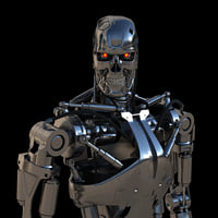 3D model terminator t-800 endoskeleton