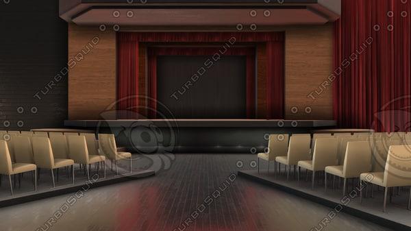 tv theater studio 3D model