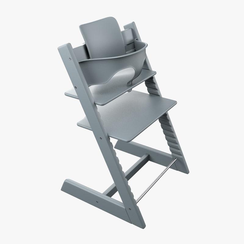 stokke highchair 3D
