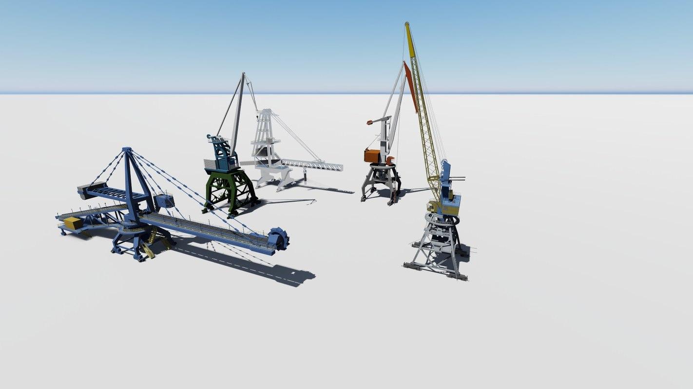 crane port 3D